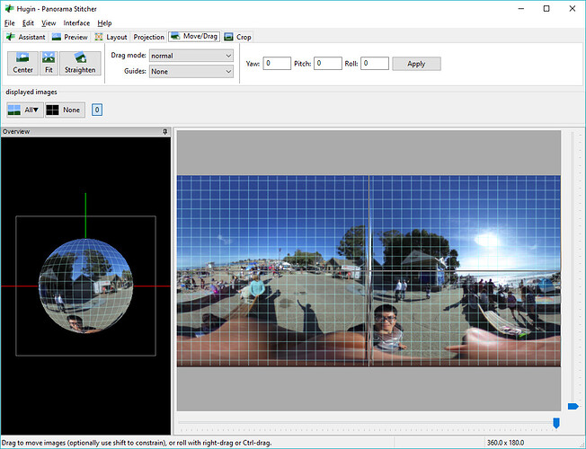 Hugin HowTo: Convert 360 Image to Cropped Flat Panoramic