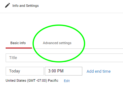 youtube advanced settings