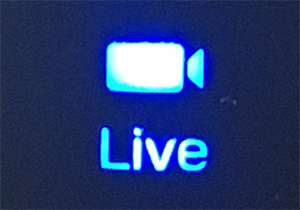 Verify that the camera's Live light is on