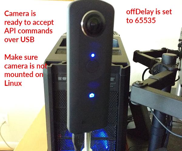 RICOH THETA API Over USB Cable - (S, V, SC models) - THETA API Usage