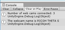 Simplest Webcam Test in Unity - Unity Development - THETA 360 Developer