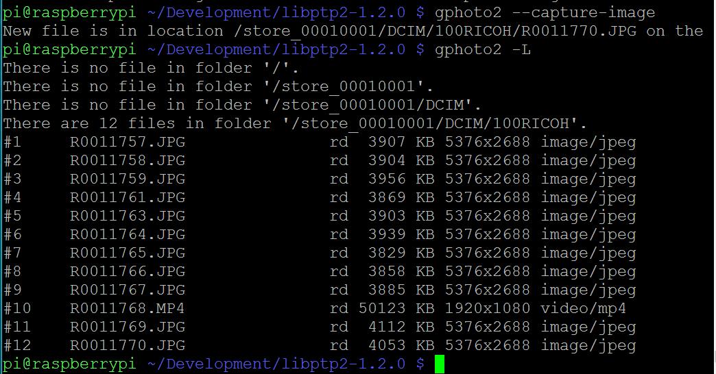 RICOH THETA API Over USB Cable - (Z1, V, S, SC models