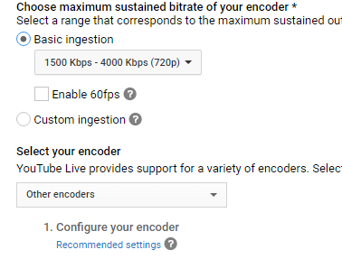 youtube basic ingestion
