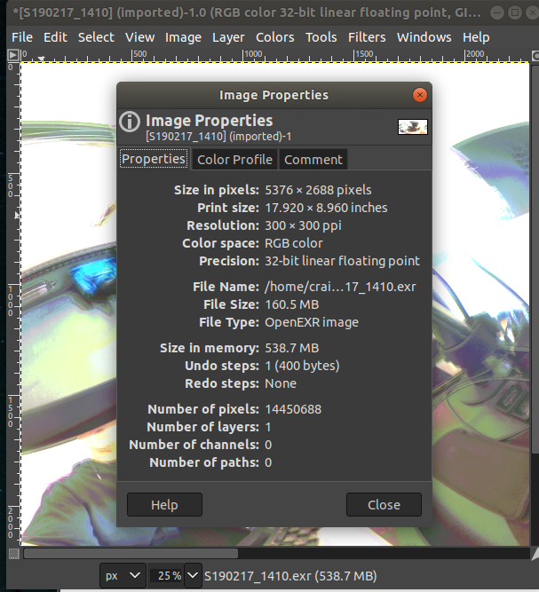 HDR plugin to automatically create EXR file  For VFX use - plugin