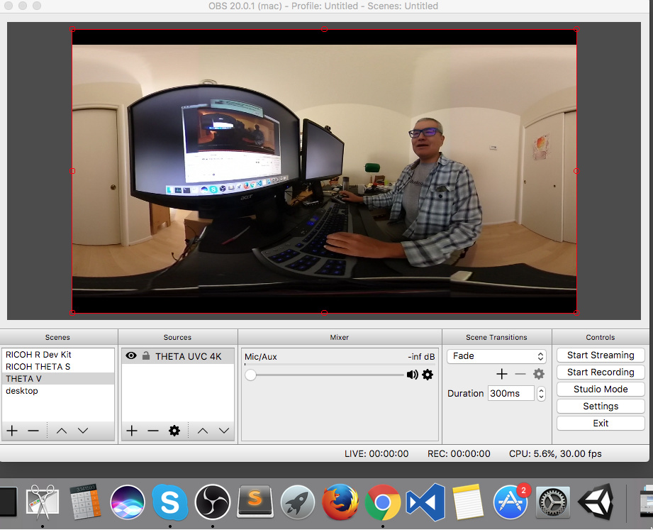 HowTo: RICOH THETA V 4K Live Streaming With