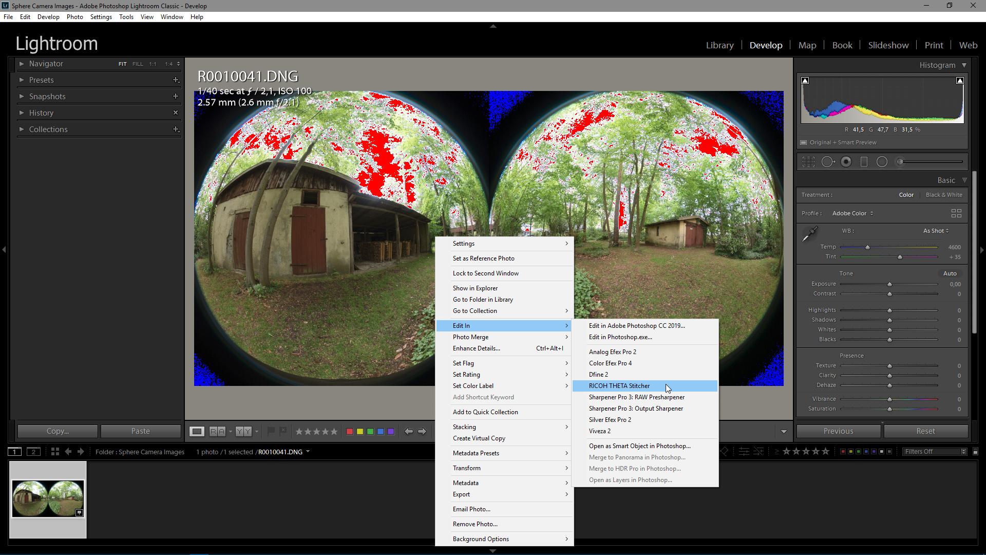 How To: Edit and Stitch RAW DNG Images From RICOH THETA Z1 with