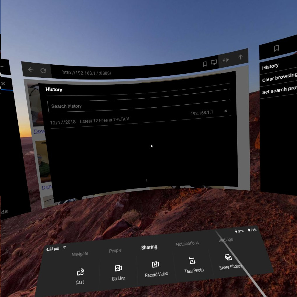 Oculus Go Plug-in Enables Direct Connection Between THETA V and