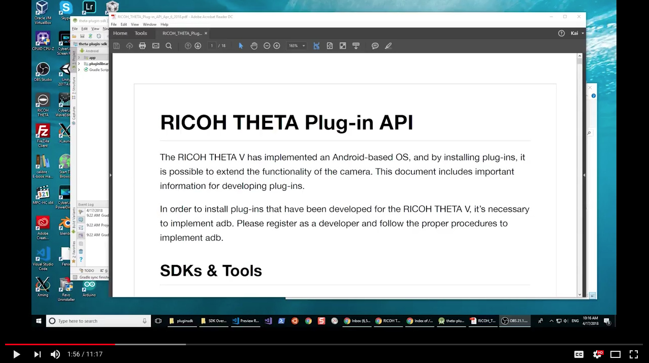 THETA V Plug-in API Documentation and SDK with Sample Code Available