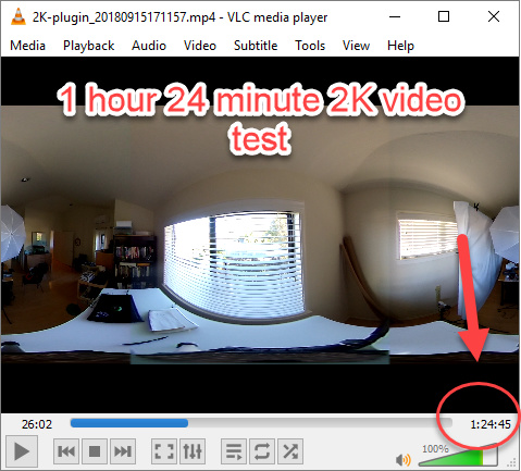 2k video test