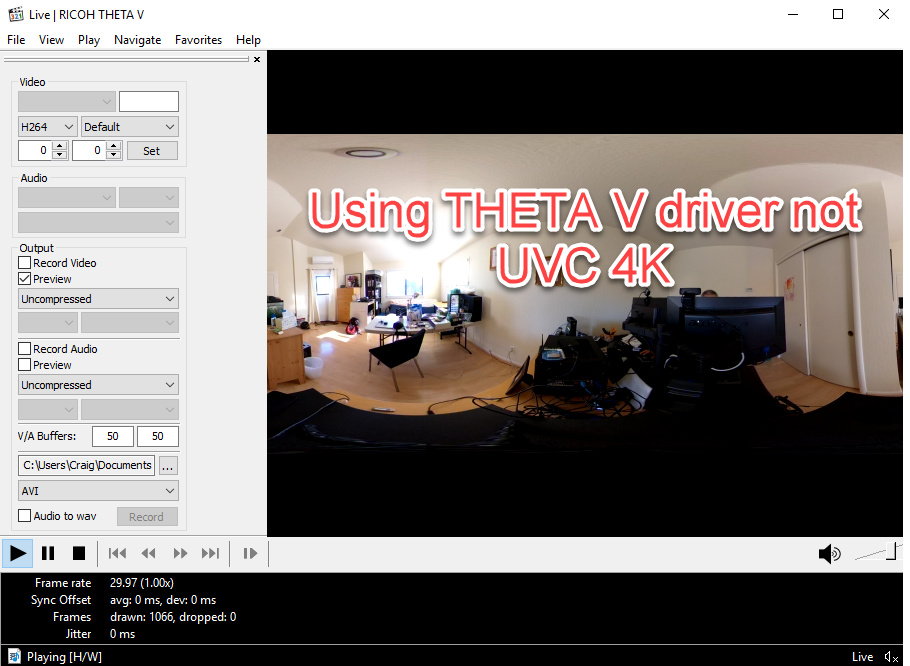 HowTo: RICOH THETA V 4K Live Streaming With