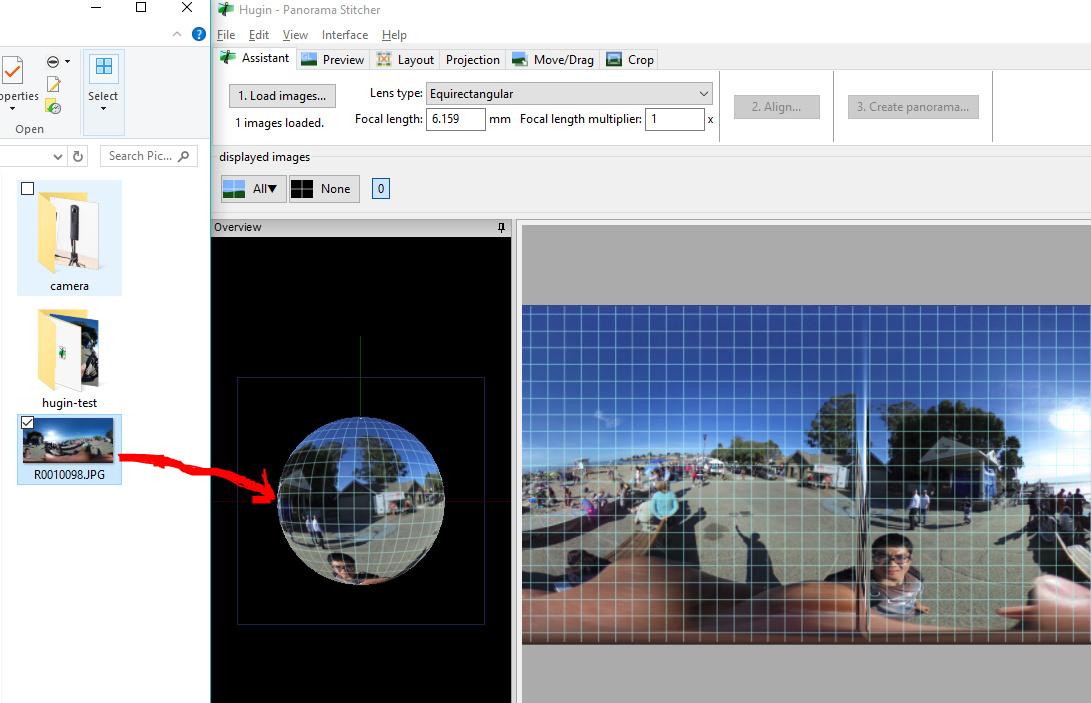 Hugin HowTo: Adjust THETA Image Tilt and Centering - THETA
