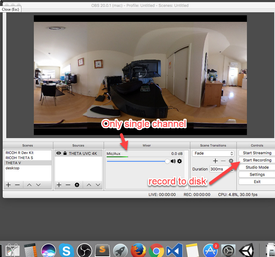 Record Ricoh Theta V Directly to computer - Ricoh Hardware and