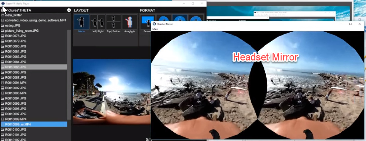Using SteamVR Media Player with HTC Vive - THETA Media