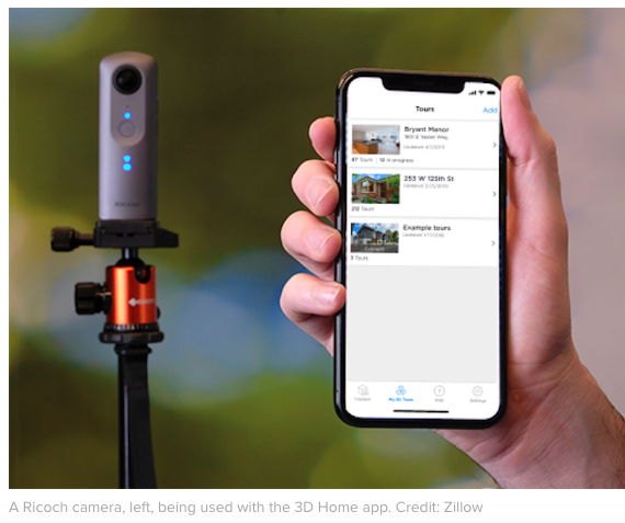 Zillow's 3D Home Tours - Using RICOH THETA - Available Across North