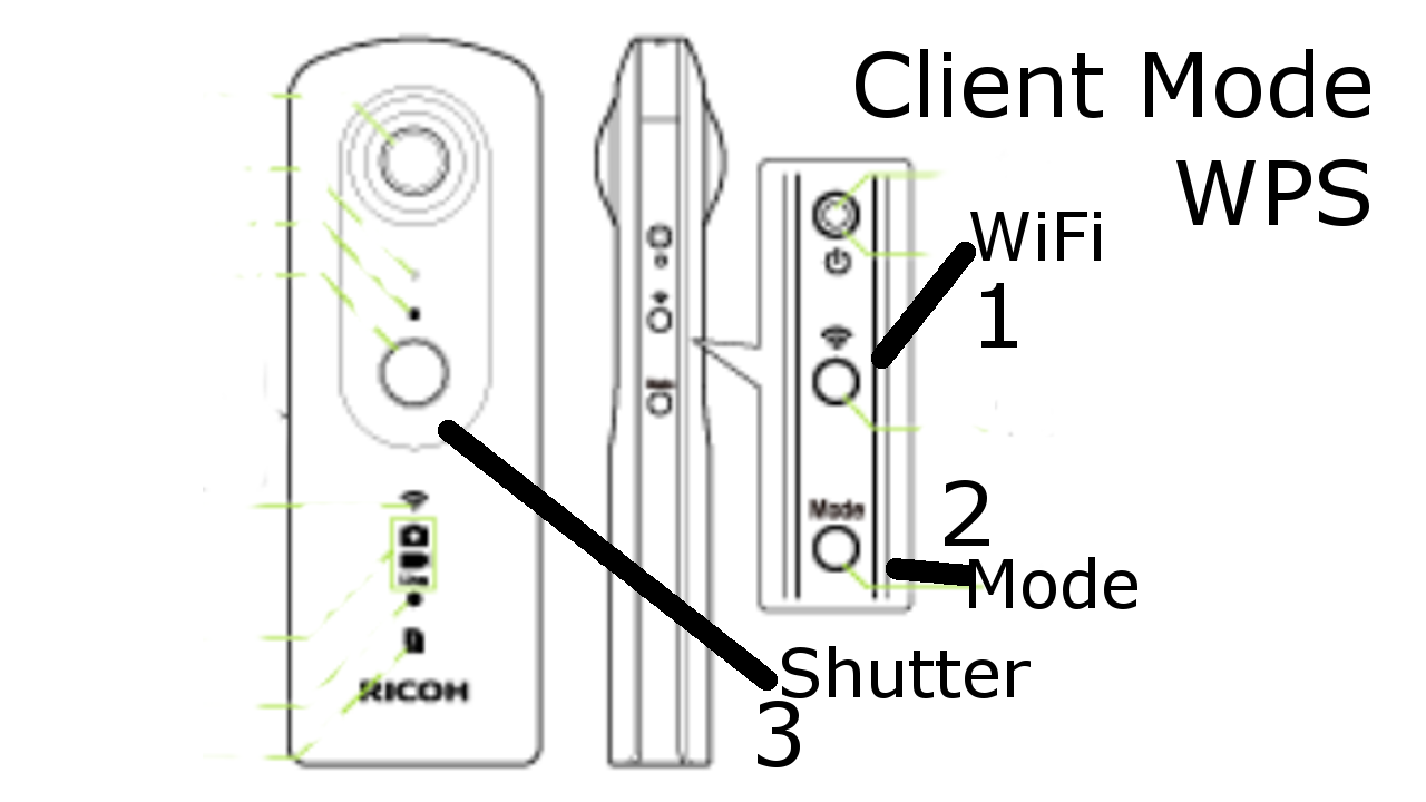 THETA V Client Mode Configuration Guide - Ricoh Hardware and