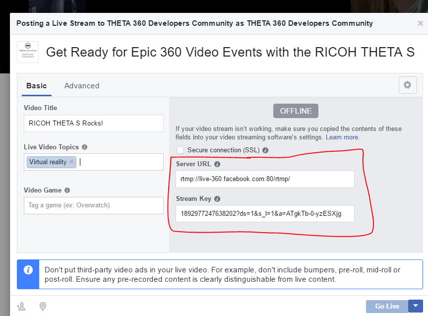 How To: Facebook Live 360 with RICOH THETA S - THETA Media